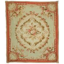 antique french aubusson rug circa 1890