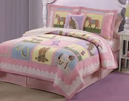 GIDDY UP Twin QUILT SET : GIRLS PONY HORSE PINK COWGIRL BEDDING ... & GIDDY UP Twin QUILT SET : GIRLS PONY HORSE PINK COWGIRL BEDDING COMFORTER Adamdwight.com