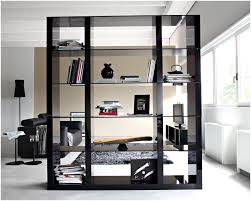 Glass Bookshelf Bookshelf Room Divider With Door Awesome Bookcase Room Dividers