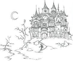 Small Picture Haunted house coloring pages with bats ColoringStar