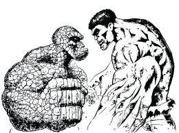 Hulk Coloring Page Incredible Hulk Coloring Page The Thing Pages