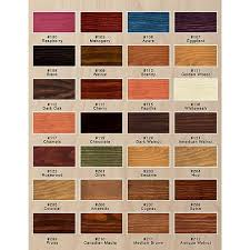 Saman Water Based Stain Color Chart