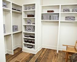 image of painted closet storage shelves
