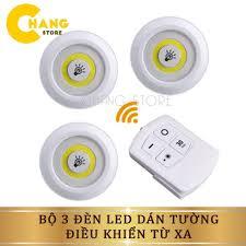 Bộ 3 Đèn LED Dán Tường Mini Thông Minh MURO Longer Light có chức năng hẹn  giờ và Remote Điều Khiển Từ Xa