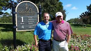 greate bay country club general manager ron ralston left and longtime member steve coates the radio color mentator for the philadelphia flyers
