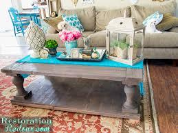 diy restoration hardware coffee table