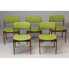 set of 5 model 49 dining chairs erik buch 1960s