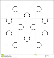Blank Puzzle Template Jigsaw Puzzle Blank Template 24x24 Stock Illustration Illustration 1