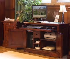 hideaway office furniture. MAHOGANY Painted Home Office Furniture Hideaway L