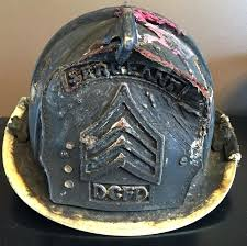 leather firefighter helmet cairns sergeant fire black shield burned shields