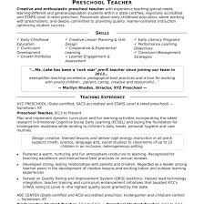 Child Care Teacher Resume Templates Resume With Early Childhood ...