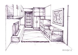 simple architectural drawings. Fine Simple One Point Perspective Kitchen Step By Art Three Drawing Two Tutorial Pdf  Worksheet How To Draw  To Simple Architectural Drawings
