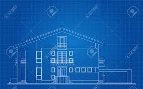 modern architecture blueprints. Simple Modern Modern American House Facade Architectural Blueprint Stock Vector  25411749 To Architecture Blueprints D