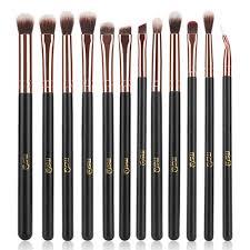 msq eye makeup brushes 12pcs rose gold eyeshadow makeup brushes set with soft synthetic hairs