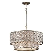full size of feiss lucia crystal two tierlier in burnished silver robertson single pillar candle camino