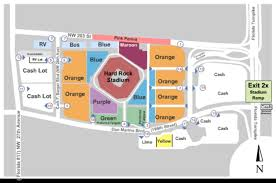 Hard Rock Stadium Seating Chart Hurricanes Hard Rock Stadium Parking Lots Tickets In Miami Gardens