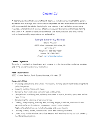 professional cleaner resume  resume for study