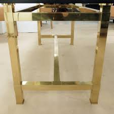 large rectangular dining table smoked glass and brass legs furniture via antica