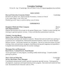 Bartender Example Resume Server Resume Samples Bartender Resume