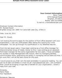 Assistant Front Office Manager Cover Letter Expert Print Desk Resume