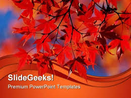 Red Japanese Maple Nature Powerpoint Templates And Powerpoint
