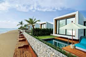 Small beach house Oceanfront Small Modern House On The Beach World Of Architecture World Of Architecture Small House On The Beach By Vaslab Architecture