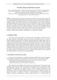 functions furniture. (PDF) Furniture Design Using Function Analysis Functions