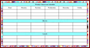 Class Timetable Template Awesome Class Timetable Template School Schedule Templates Blank Weekly Free