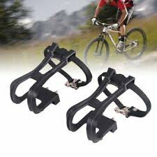 New <b>MTB Road</b> Touring Bike Pedal Large Toe Clips and Straps ...