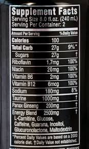 monster can nutrition facts. Interesting Nutrition Monster Energy Facts  Ace Pertaining To Food Label  24658 To Can Nutrition