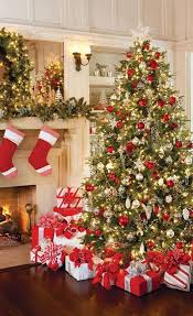 Red Gold White Christmas Tree (01) ...