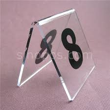 Restaurant Table Top Display Stands Acrylic Table Number Signs 100 100 desk top clear plastic codes card 38