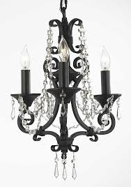 g7 b126143 black crystal chandelier lighting