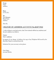 Change Of Address Letters Remarkable Address Change Letter Format To