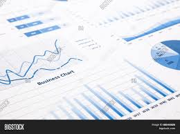 Business Charts And Graphs Blue Business Charts Image Photo Free Trial Bigstock