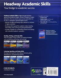 headway academic skills introductory reading writing and study  headway academic skills introductory reading writing and study skills student s book oxford online skills na 9780194741958 com books
