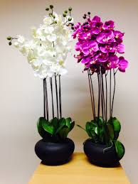 artificial plant 84cm extra large pink orchid in pot house office indoor plants