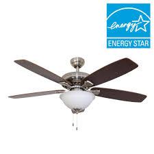 sahara fans ardmore 52 in brushed nickel energy star ceiling fan