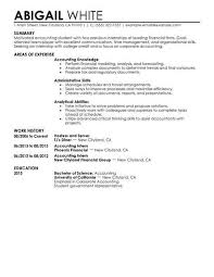 Accounting Internships Resume Examples Best Training Internship Resume Example Livecareer