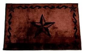 chocolate western star rug 2x3