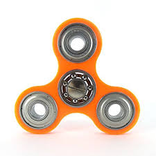 steel bearings fidget spinner. acrylic fidget spinner \u2013 78mm x 5mm fluorescent orange steel bearings r