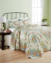 Quilts and Bedspreads - Macy's & Martha Stewart Collection Coneflower Diamond Quilted Bedspread and Sham  Collection, Created for Macy's Adamdwight.com