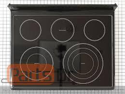 range oven parts glass main cook top black