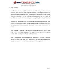 water air and noise pollution page 2 3 civil engineering department1 4 noise pollution