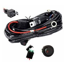 Fog Light Wiring Loom Us 4 56 30 Off Universal 12v 40a Car Fog Light Wiring Harness Kit Loom For Hid Work Driving Light Bar With Fuse And Relay Switch On Aliexpress