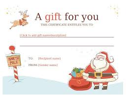 gift certificates format 11 free sample christmas gift certificate templates printable samples