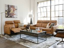 country rustic living room with torben brown leather power reclining sofa w usb