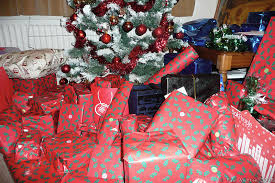 Photo: P1010847 Christmas presents under tree