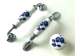 Blue Drawer Pulls Dresser Cabinet Kitchen  Handle Handles Knobs White White Drawer Pulls80