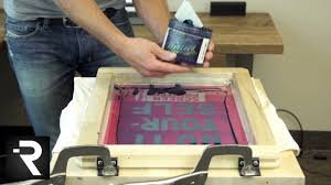 how to screen print w the diy hinge press without using s